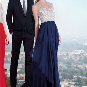 Alyce Paris navy prom dress 6342